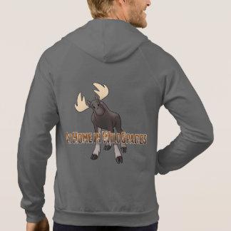 At Home in Wild Spaces, Moose Hoodie, Men Hooded Sweatshirt