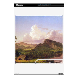 At home on the lake by Frederic Edwin Church Decal For PS3 Slim