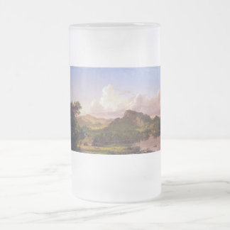 At home on the lake by Frederick Edwin Church Frosted Glass Beer Mug