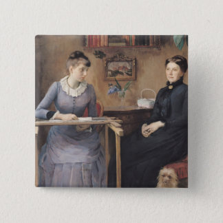 At Home or Intimacy, 1885 Pinback Button