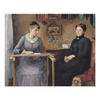 At Home or Intimacy, 1885 Poster