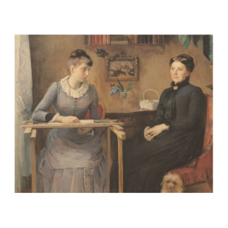 At Home or Intimacy, 1885 Wood Wall Art