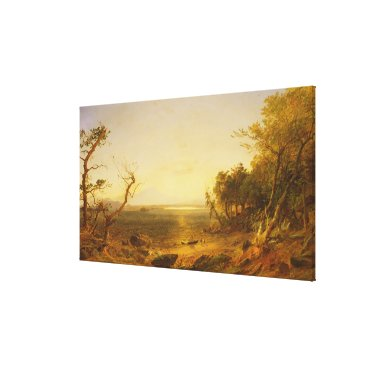 Beach Themed At Lake George Canvas Print