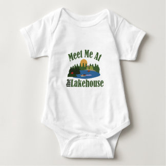 At Lake House Baby Bodysuit