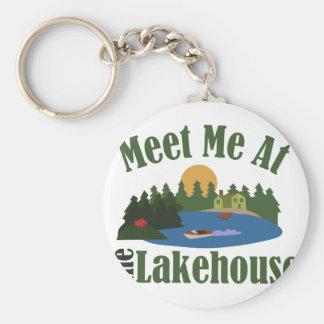 At Lake House Basic Round Button Keychain