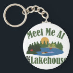 "At Lake House Keychain<br><div class=""desc"">This lake house is perfect for the weekend home theme.  Makes a great gift!</div>"