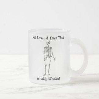 At Last, A Diet That Really Works! Frosted Glass Coffee Mug