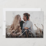 """At Last Photo Save The Date<br><div class=""""desc"""">A modern save the date or wedding announcement card featuring the words """"at last"""",  plus your photo and details.</div>"""