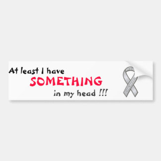 At least I have SOMETHING in my head !!! Bumper Sticker