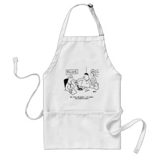 At least the soup is runny adult apron