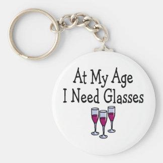 At My Age I Need Glasses Keychain