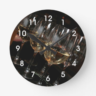 At my age I need wine glasses Round Wall Clock