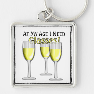 At My Age (White Wine Lover) - Key Chain