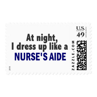 At Night I Dress Up Like A Nurse's Aide Postage Stamps