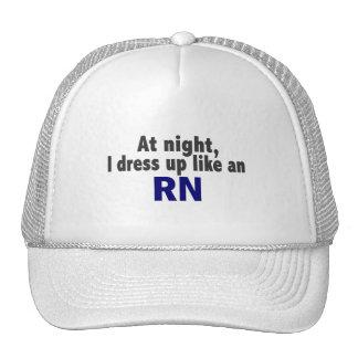 At Night I Dress Up Like An RN Mesh Hats