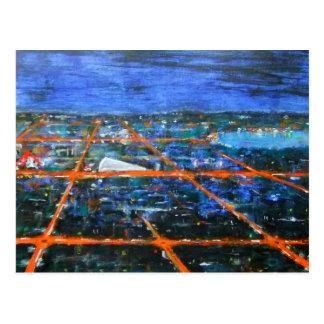 At night in Milton Keynes postcard