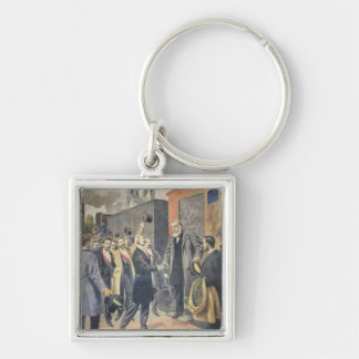 At Paris: the Arrival of President Kruger Keychain