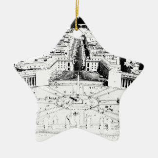 At Peter's Square Double-Sided Star Ceramic Christmas Ornament