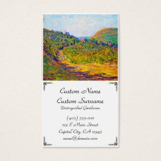 At Petit-Dalles, 1884 Claude Monet cool, old, mast Business Card