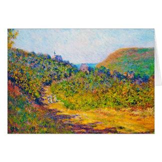 At Petit-Dalles, 1884 Claude Monet cool, old, mast Card
