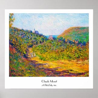 At Petit-Dalles, 1884 Claude Monet cool, old, mast Poster