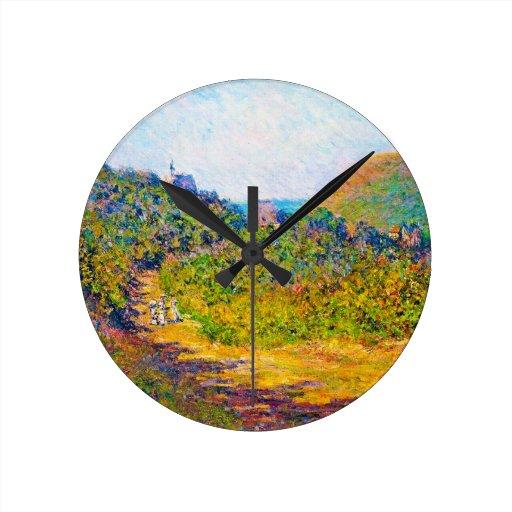 At Petit-Dalles, 1884 Claude Monet Wallclock