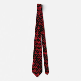 At Pi Sign Pattern Neck Tie
