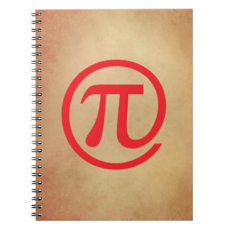 At Pi Sign Spiral Note Books