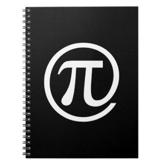 At Pi Sign Spiral Notebooks
