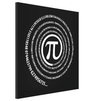At Pi Sign, Spiral Version Canvas Print