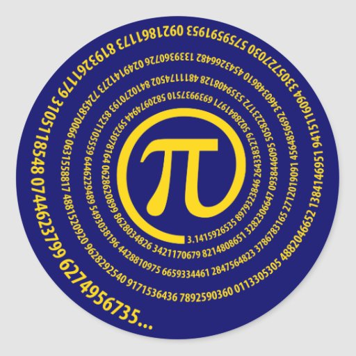 At Pi Sign, Spiral Version Stickers