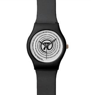At Pi Sign, Spiral Wrist Watch