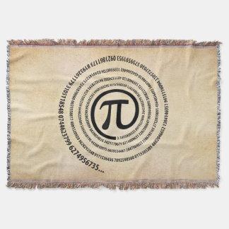 At Pi Symbol, Spiral Version Throw Blanket