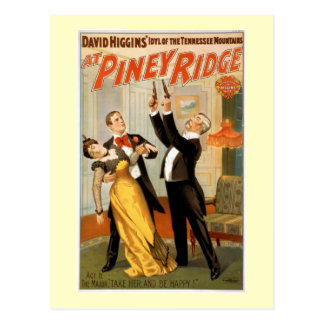 At Piney Ridge Vintage Theater Poster Postcard