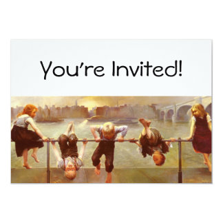 At Play Dorothy Tennant 5x7 Paper Invitation Card