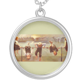 At Play Dorothy Tennant Round Pendant Necklace