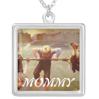 At Play Dorothy Tennant Square Pendant Necklace