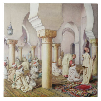 At Prayer in the Mosque, 1884 Ceramic Tile
