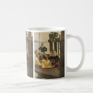 At Queen's Ferry by NC Wyeth, Vintage Pirates Coffee Mug