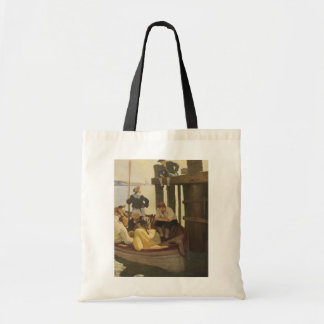 At Queen's Ferry by NC Wyeth, Vintage Pirates Tote Bag