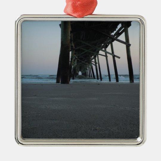 At Sea Level - Oak Island, NC Metal Ornament