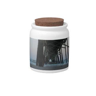 At Sea Level - Oak Island, North Carolina Candy Jars