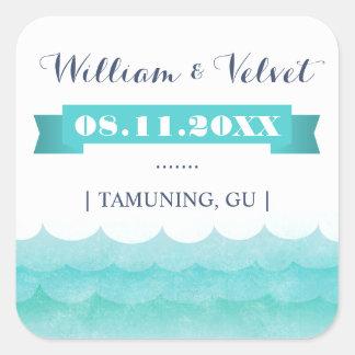 At Sea Nautical Wedding Favor Stickers