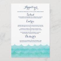 At Sea Nautical Wedding Menu Cards