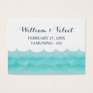 At Sea Nautical Wedding Place Cards