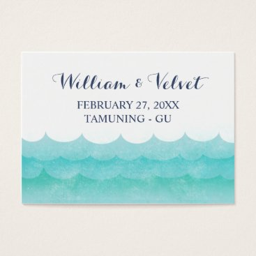 Beach Themed At Sea Nautical Wedding Place Cards