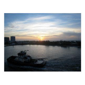 At Sea Postcard