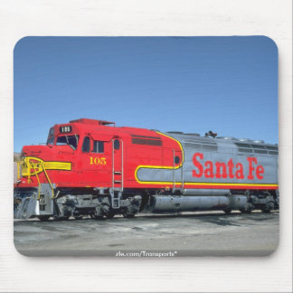"""At&SF EMD F-45 """"Warbonnet"""", 1990 Mouse Pad"""