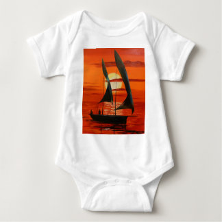At sunset baby bodysuit