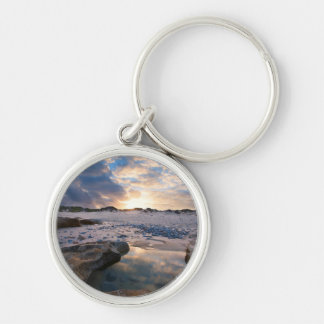 At Sunset In A Puddle Keychain